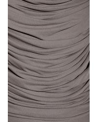 Derek Lam Gray Draped Crepejersey Dress