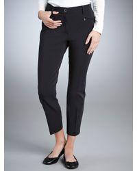 Gardeur Blue Gardeur Dina Smart Cropped Trousers Navy