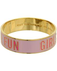 kate spade new york Pink 'Get The Show On The Road' Idiom Bangle