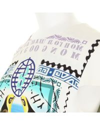 Mary Katrantzou | Multicolor Silk Dress with A Stamp and Banknotes Kaleidoscopic Print | Lyst