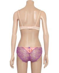Mimi Holliday by Damaris Purple Daiquiri Silksatin and Lace Briefs