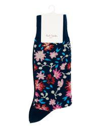 Paul by Paul Smith - Blue Floral Socks for Men - Lyst