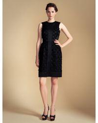 Temperley London Black Lattice Ribbon Dress