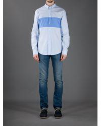 Acne Studios Blue Striped Shirt for men