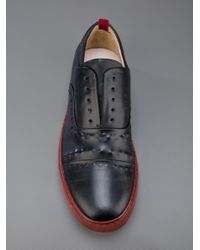 Alexander McQueen Black Colour Block Shoe for men