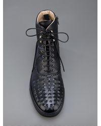 Alexander McQueen Black Lace Up Boot for men
