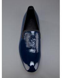 Alexander McQueen Blue Skull Detail Slipper for men