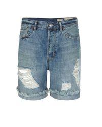 AllSaints Blue Haru Carson Shorts