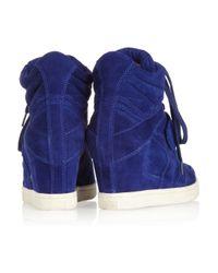 Ash Blue Cool Suede Wedge Hightop Sneakers