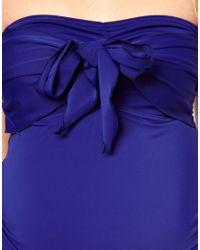 ALDO Blue Asos Maternity Exclusive Swimwear Tankini Top with Bow