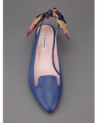 Carven Blue Sling Back Shoe