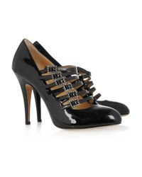 Charlotte Olympia Black Patent Mary Jane Pumps