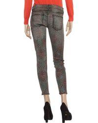 Current/Elliott Gray The Printed Stiletto Midrise Skinny Jeans