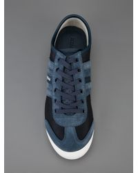 Dolce & Gabbana Blue Panelled Low Top Sneaker for men