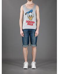Dolce & Gabbana Gray Character Print Vest for men