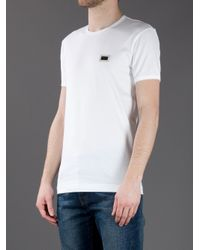 Dolce & Gabbana White Logo Patch T-shirt for men