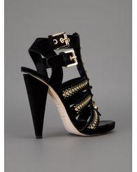 DSquared² Black Strappy High Heel Sandal