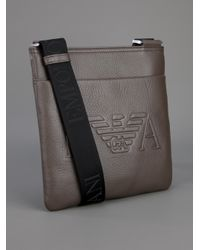 Emporio Armani Brown Cross Body Bag for men