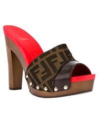 Fendi Brown Chunky Platform Sandal