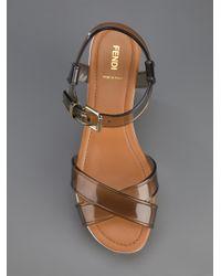 Fendi Multicolor Flatform Sandals