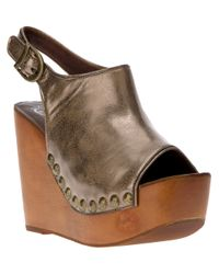 Jeffrey Campbell Brown Snick Studded Wedge Sandal