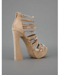 Jeffrey Campbell Natural Shakira Chained Sandals
