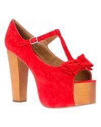 Jeffrey Campbell Red Foxy Luanne Shoe