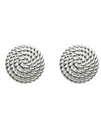 Kit Heath - Metallic Sterling Silver Large Ravel Stud Earrings - Lyst