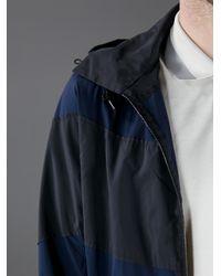 Lanvin Blue Striped Panel Sports Jacket for men