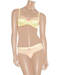 Mimi Holliday by Damaris Natural Lace and Silk Satin Briefs