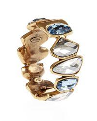 Oscar de la Renta - Brown Swarovski Abstract Faceted Crystal Bracelet - Lyst