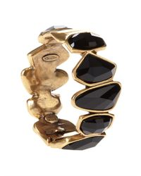 Oscar de la Renta | Metallic Swarovski Abstract Faceted Crystal Bracelet | Lyst