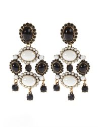 Oscar de la Renta | White Iconic Opaque Cabochon Drop Earrings | Lyst