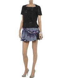 See By Chloé Black Broderie Anglaise Cotton Top