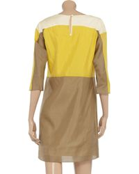 See By Chloé Yellow Colorblock Silkvoile Dress