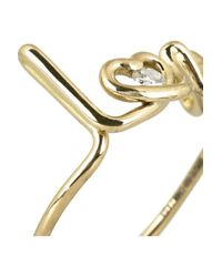 Solange Azagury-Partridge Metallic Love 18karat Gold Diamond Ring