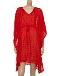 Tucker Red Polkadot Silk Dress
