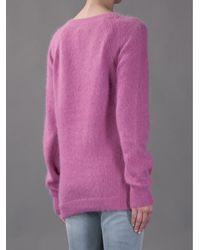 Acne Studios Purple Micah Sweater