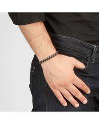Bottega Veneta Brown Ebano Intrecciato Antique Silver Nappa Bracelet for men