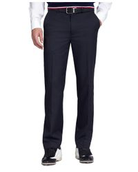 Brooks Brothers - Blue St Andrews Links Plain-front Pants for Men - Lyst
