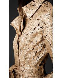 Burberry Prorsum Metallic Lasercut Leather Trench Coat