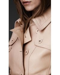 Burberry Prorsum Natural Leather Corset Trench Jacket