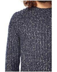French Connection Blue Javan Chunky Ribbed Jumper for men