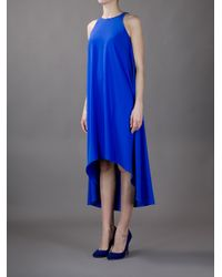 Hotel Particulier Blue Dipped Hem Dress
