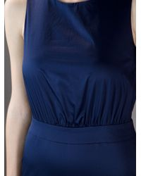 Love Moschino Blue Fitted Waist Sleeveless Dress