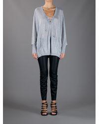 Michael Kors | Gray Slouchy Sweater | Lyst