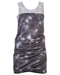MM6 by Maison Martin Margiela Gray Back Drape Dress