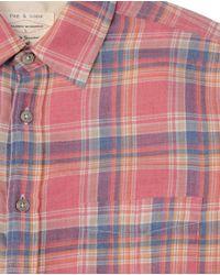 Rag & Bone - Red Yokohama Shirt for Men - Lyst