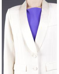 Smythe White Satin Collar Blazer
