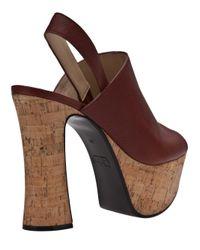 Chloé Brown Alice Platform Sandal